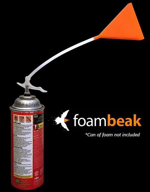 Foam beak on canned foam